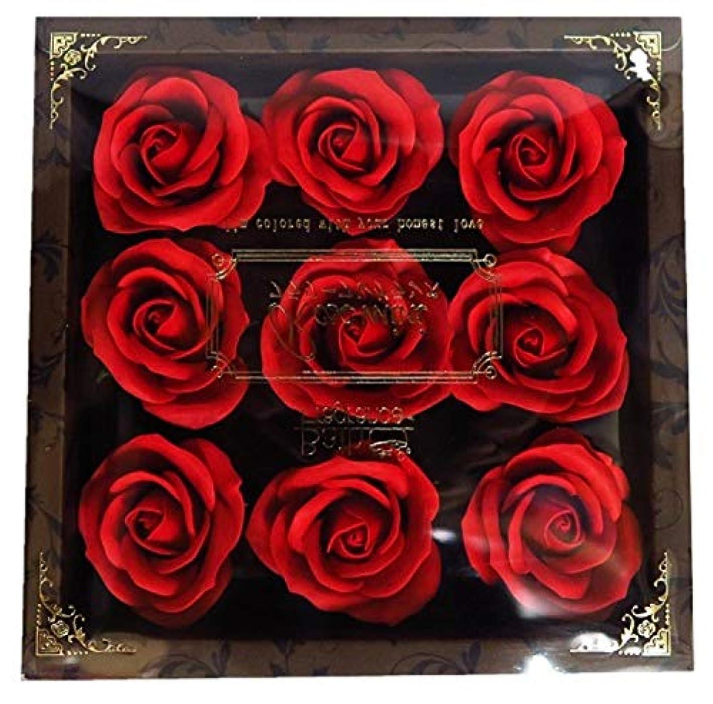 リア王金銭的大惨事バスフレグランス フラワーフレグランス ミニローズフレグランス(L)レッド ギフト お花の形の入浴剤 プレゼント ばら