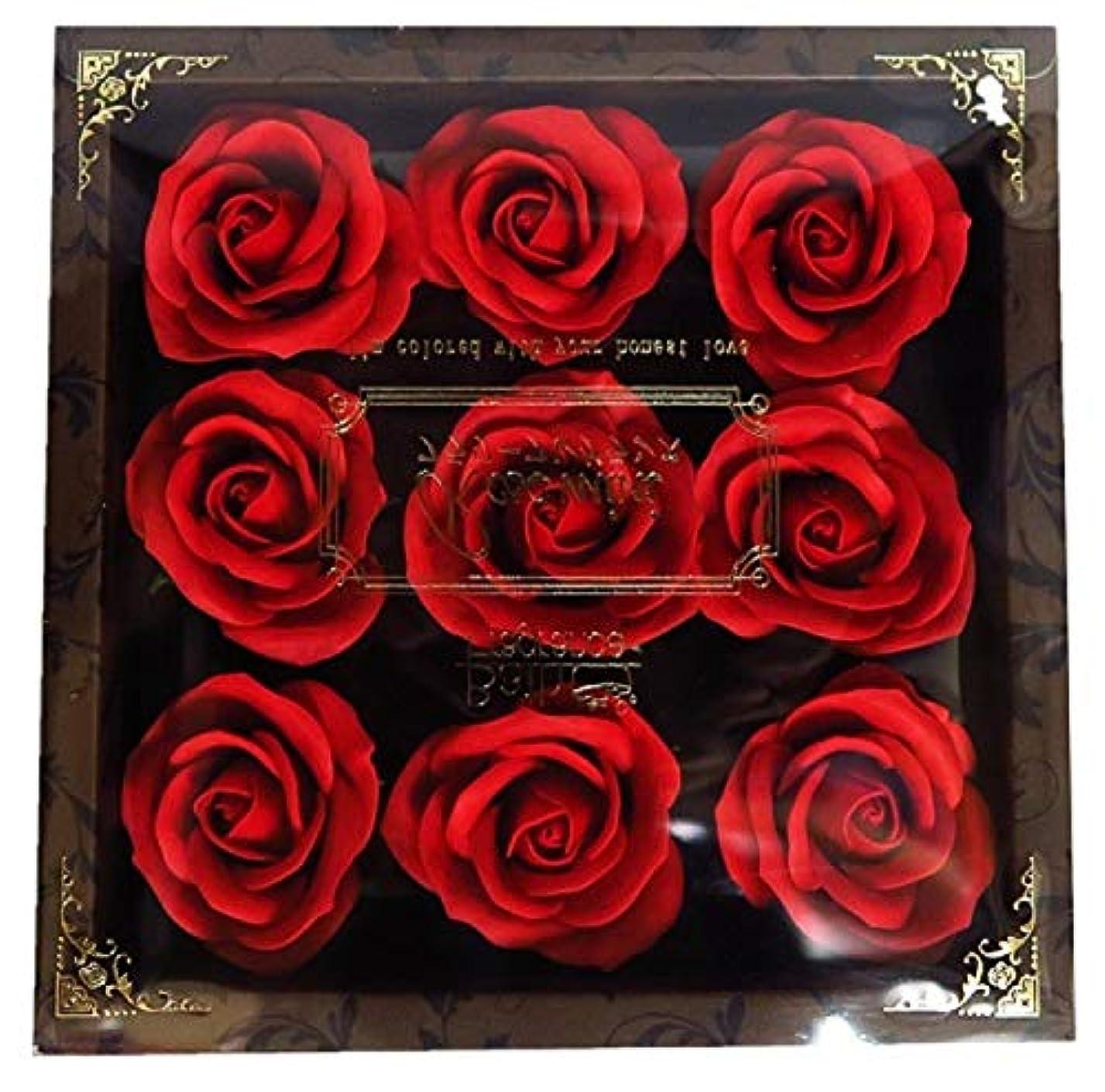休眠八百屋舗装バスフレグランス フラワーフレグランス ミニローズフレグランス(L)レッド ギフト お花の形の入浴剤 プレゼント ばら