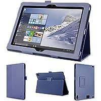 wisers 保護フィルム・タッチペン付 Lenovo ThinkPad 10 2015年型 10.1インチ タブレット 専用 ケース カバー ダークブルー