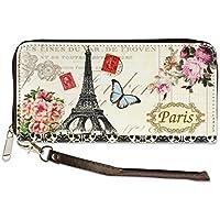 Digital Print Faux Leather Wallet Purse (ButterFly Paris)
