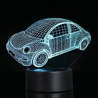 Docooler 3D視覚ランプ透明アクリルナイトライト7色LEDランプ