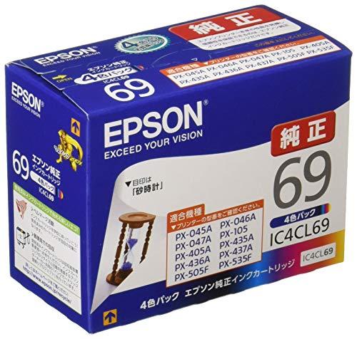 EPSON 純正インクカートリッジ IC4CL69 4色パッ...