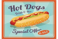 冷蔵庫用マグネット Fridge Magnet Retro Hot dogs