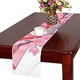 LKCDNG テーブルランナー 赤い 和風の扇子 クロス 食卓カバー 麻綿製 欧米 おしゃれ 16 Inch X 72 Inch (40cm X 182cm) キッチン ダイニング ホーム デコレーション モダン リビング 洗える