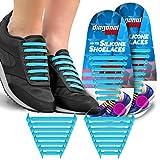 CONVERSE 靴 NoタイShoelaces子供&大人。TheゴムシリコンShoe Laces靴文字列を交換します。16Slip On TielessフラットSiliconスニーカー靴紐