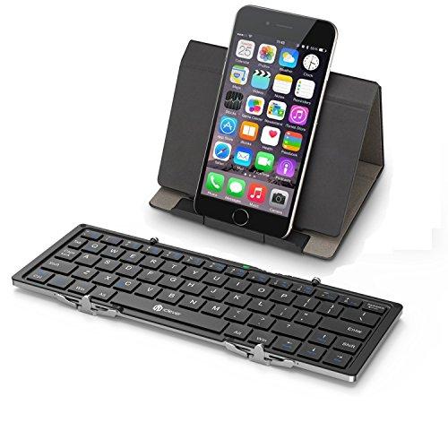 iClever Bluetoothキーボード 折りたたみ式 レ...