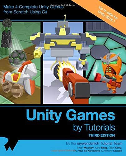Download Unity Games by Tutorials: Make 4 Complete Unity Games from Scratch Using C# 1942878567