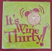 DESIGNER BEVERAGE NAPKINS / 30 PC COUNT (5 x 5, Wine Thirty) by Party!