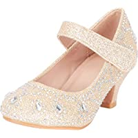Cambridge Select Girls' Mary Jane Low Heel Glitter Crystal Rhinestone Pump (Toddler/Little Kid/Big Kid)