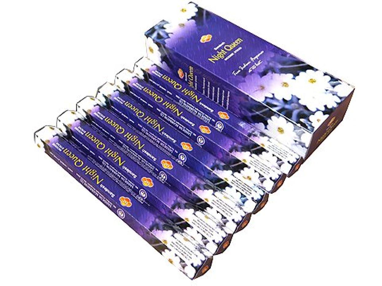 トロリー悲しいことに集めるSANDESH SAC (サンデッシュ) ナイトクィーン香 スティック NIGHT QUEEN 6箱セット