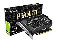 Palit GeForce GTX 1650 StormX OC 4GB GDDR 5グラフィックスカード(GeForce GTX 1650、4GB、GDDR 5、128ビット、4096 x 2160ピクセル、PCI Express x 16 3.0)
