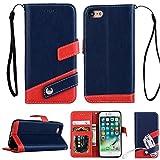 iPhone SE /iphone5s /iphone5 レザー 手帳型 ケース マルチ カラー Diary case カード収納 液晶保護フィルム 付 スタンド機能付き イヤホンコードクリップ iPhone SE 本革風カバー マグネット式 アイフォンSEケース アイフォン5/5s対応 (iPhone 5 /5s /se, ネイビー)