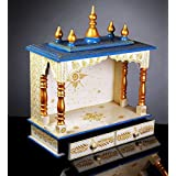 Craft Wooden Home Temple/Pooja Mandir/Mandap with Hand Painting Work/Temple for Home/Mandir for Home/Indian Temple