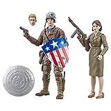 【Amazon.co.jp 限定】MARVEL マーベルレジェンドシリーズ キャプテン・アメリカ : ファースト・アベンジャー キャプテン・アメリカ&ペギー・カーター 6インチフィギュア E6342 正規品 画像