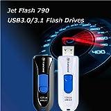 【Amazon.co.jp限定】 Transcend USBメモリ 16GB USB3.1 & USB 3.0 スライド式 ブラック (無期限保証) TS16GJF790KPE (FFP)