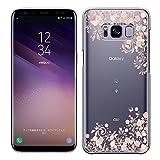 「Breeze-正規品」iPhone ・ スマホケース ポリカーボネイト [透明-Pink] Samsung Galaxy S8 ケース SC-02J/SCV36 ギャラクシーs8 カバー 液晶保護フィルム付 全機種対応 [GS8]