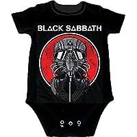 ブラックサバス Black Sabbath Mask Never Say Die 赤ちゃん Baby Romper Tシャツ T-Shirt