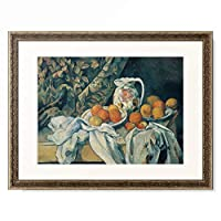 ポール・セザンヌ Paul Cézanne 「Still Life with Fruit and Curtain. 1894/95」 額装アート作品