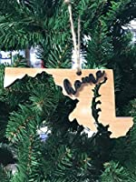 Maryland State Christmas Tree Ornament Keepsake Decoration Holiday Gift Home Ornie Party Favor [並行輸入品]