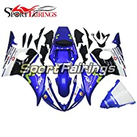 Sportfairingsオートバイ 外装パーツセット 適合 ヤマハ Yamaha YZF-R6 (R6S 06-09) 2003 2004 03 04 年 青と黒 カウリング