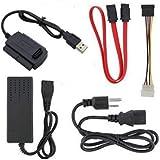 SATA/IDE-USB2.0変換アダプター 2.5/3.5/5.25インチハードドライブ/光学ドライブ用