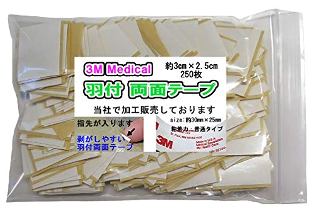 陰気外国人親愛な《アイデア商品》羽付3cmカット済み、スリーエム両面テープ約250枚