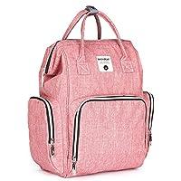 decdeal Baby Diaperバックパック、大容量ファッションMummy授乳バッグ、保育園、ホーム、車や旅行に最適 ピンク WQK0102892638736LT