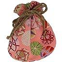 (ワコモノ) 和comono 和柄 巾着袋 ちりめん 和小物 和雑貨 和風小物 日本製 (k: 小手毬桃)