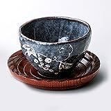 【湯呑 美濃焼】 玉山窯 鼠志野 いっぷく碗(茶托付) / お楽しみグッズ(キッチン用品)付きセット
