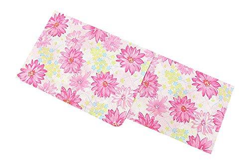 新柄 女浴衣 キスミス ブランド浴衣 白×ピンク花 フラワー Xmiss レディース 検針済