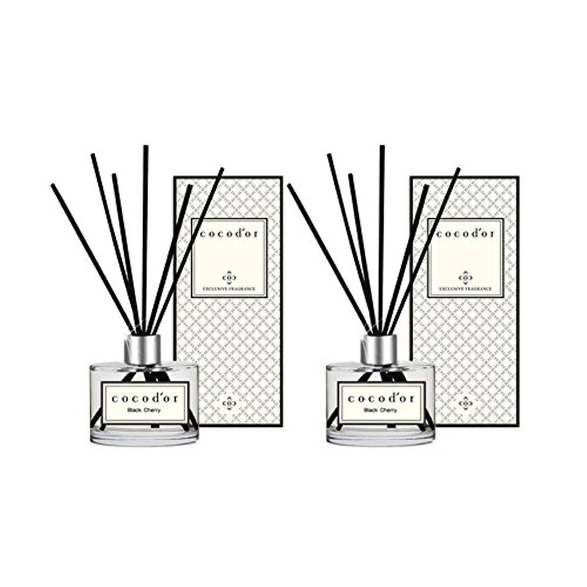(ココドール) COCODOR リードディフューザー本品2個(400ml) (ブラックチェリー) [並行輸入品]