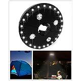 XuBa キャンプテントランプ パティオ傘ポールライト 屋外ガーデンヤード芝生夜の光 24 + 4LED 取り外し可能 ブラック