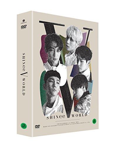 SHINee WORLD V in Seoul DVD 2DISC+Postcard Book+6Photocards+Folded Poster [KPOP MARKET特典: 追加特典フォトカードセット] [韓国版]