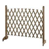 木製 ガーデンフェンス 伸縮 ラティス トレリス アコーディオン フェンス ガーデニング ガーデン ウッド 柵
