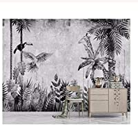 caomei 壁紙壁画中世の手描きの熱帯雨林植物風景テレビの背景壁の壁画3Dの壁紙@ 2カスタマイズする