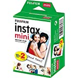 instax 16386016 Film Mini 20PK Suitable for Instax Mini Cameras including 7S ,25, 50S, 8, 70 & 90, also SHARE printer SP-2 ,pack of 2 x 10 sheets (20 sheets),White