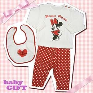 【出産祝い・ベビー服】 ディズニーベビーギフト 「minnie/ロンT」 ミニーマウス 子供用 ディズニー ベビー用品
