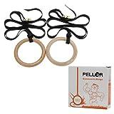Pellor オリンピック 木製体操吊り輪 オリンピック体操リング Wooden Gymnastic Rings