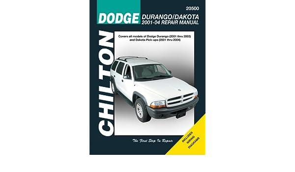 2001 through 2004 Dodge Durango & Dakota Professional & Technical ...