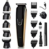 5 in 1 Men's Beard Trimmer Electric Cordless Nose Hair Trimmer Hair Clippers for Men Grooming Kit Rechargeable Dual Shaver Body Trimmer Precision Trimmer (New Updated)