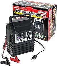 メルテック バッテリー充電器(軽自動車~小型農機) DC6V/12V 開放型バッテリー用 定格2A 長期保証3年 Meltec RC-20