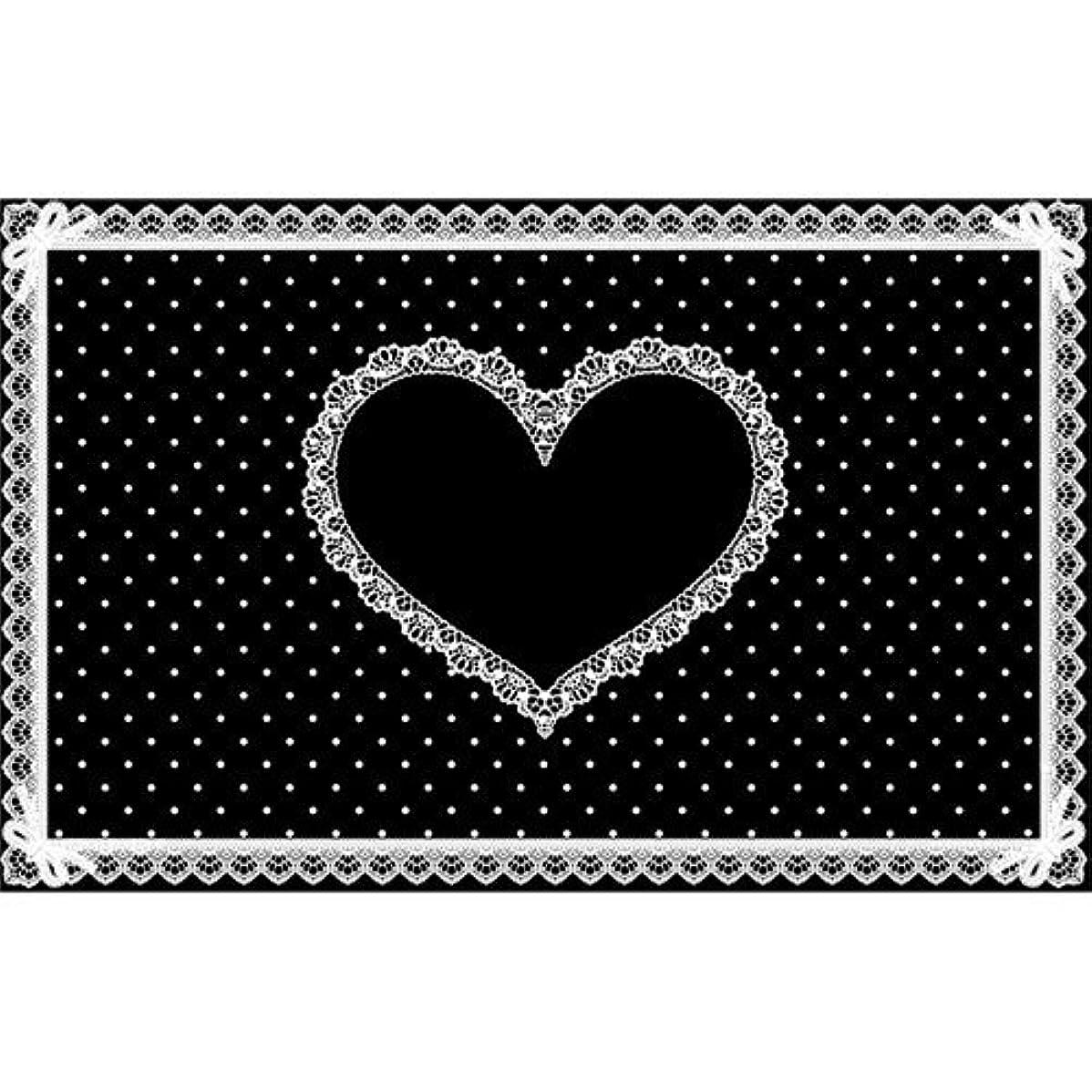 アーカイブペチコート浴室シリコンネイルマット ブラック×白 710×450mm