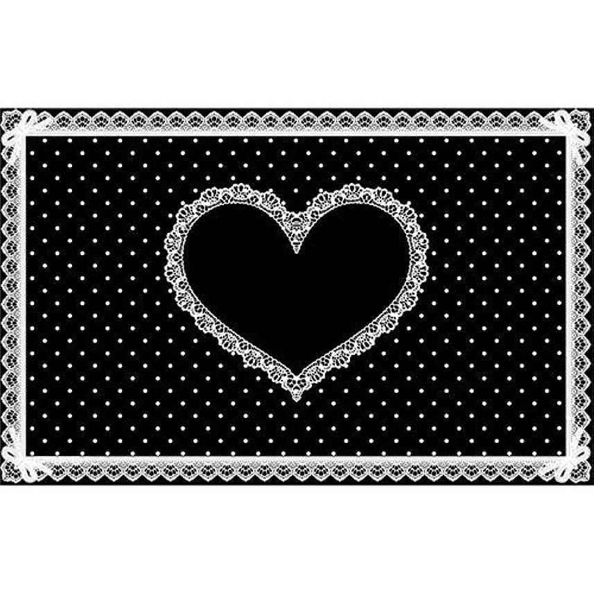 ロマンスブロック指導するシリコンネイルマット ブラック×白 710×450mm