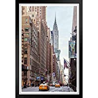 ぶら下げ絵画 - ヨーロッパとアメリカのスタイル壁画 - クライスラービル写真壁画巨人とニューヨーク市のストリートビュー -装飾美術の絵画-33x23cm