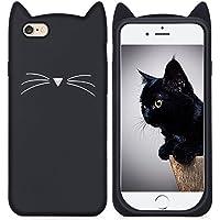 Imikoko iPhone 6s Plus ケース iPhone 6 Plus ケース シリコン 猫 かわいい 黒 アイフォン6sプラスケース