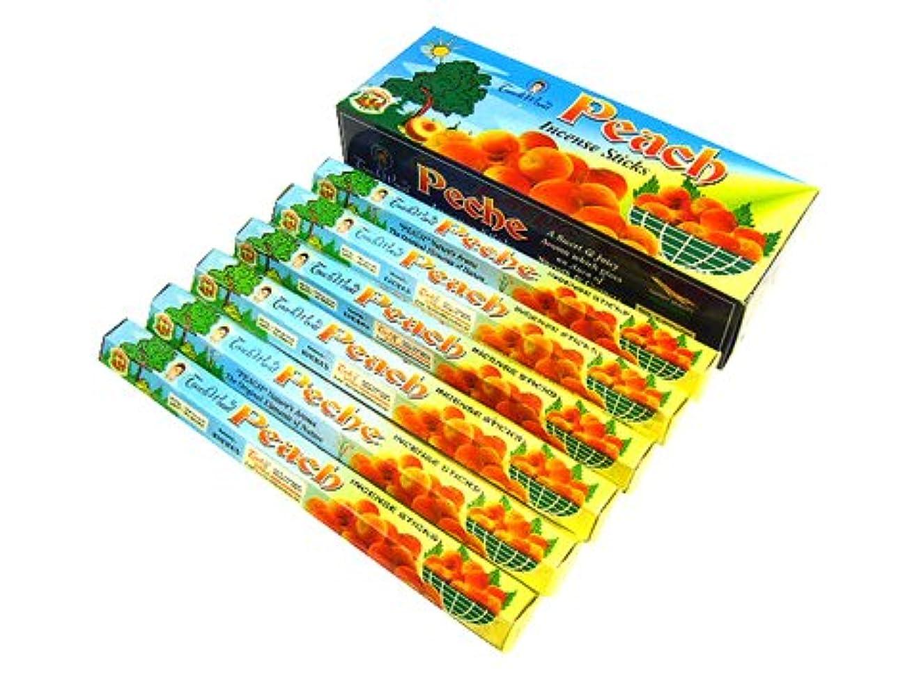 晴れ甘いアルミニウムTOUCH WOOD(タッチ ウッド) PEACH ピーチ香 スティック 6箱セット