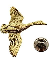 Canada Goose Flyingピン~ 24 Kゴールド~ラペルピン~サラのTreats & Treasures