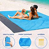 "Beach Blanket 55""x79"" Outdoor Picnic Blanket, Waterproof & Sand Free Quick Drying Nylon Outdoor Beach Picnic Mat with with Compact Storage Bag"