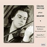 ブラームス : ヴァイオリン協奏曲 | ヴァイオリン・ソナタ 第3番 (Ginette Neveu plays Brahms ~ Violin Concerto /Conductor : Hans Schmidt-Isserstedt, Violin Sonata No.3 / Piano : Jean-Paul Neveu) [CD] [日本語解説書付] [Live Recording]