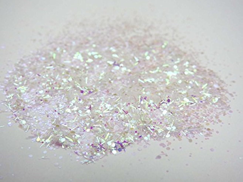 繁栄新着ノベルティ【HARU雑貨】オーロラホワイト ピンク ホログラム/グリッター ラメパウダー/キラキラ デコパーツ